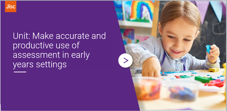 Make accurate and productive use of assessment in early years settings activity thumbnail