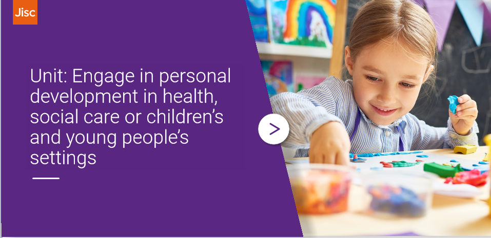 Engage in personal development in health, social care or children's and young people's settings activity thumbnail