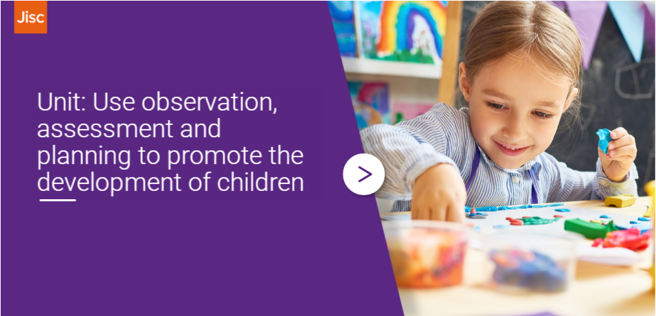 Use observation, assessment and planning to promote the development of children activity thumbnail