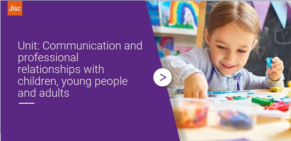 Communication and professional relationships with children, young people and adults activity thumbnail